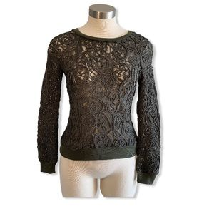 NWT Romeo & Juliet Couture Top Lace Rope